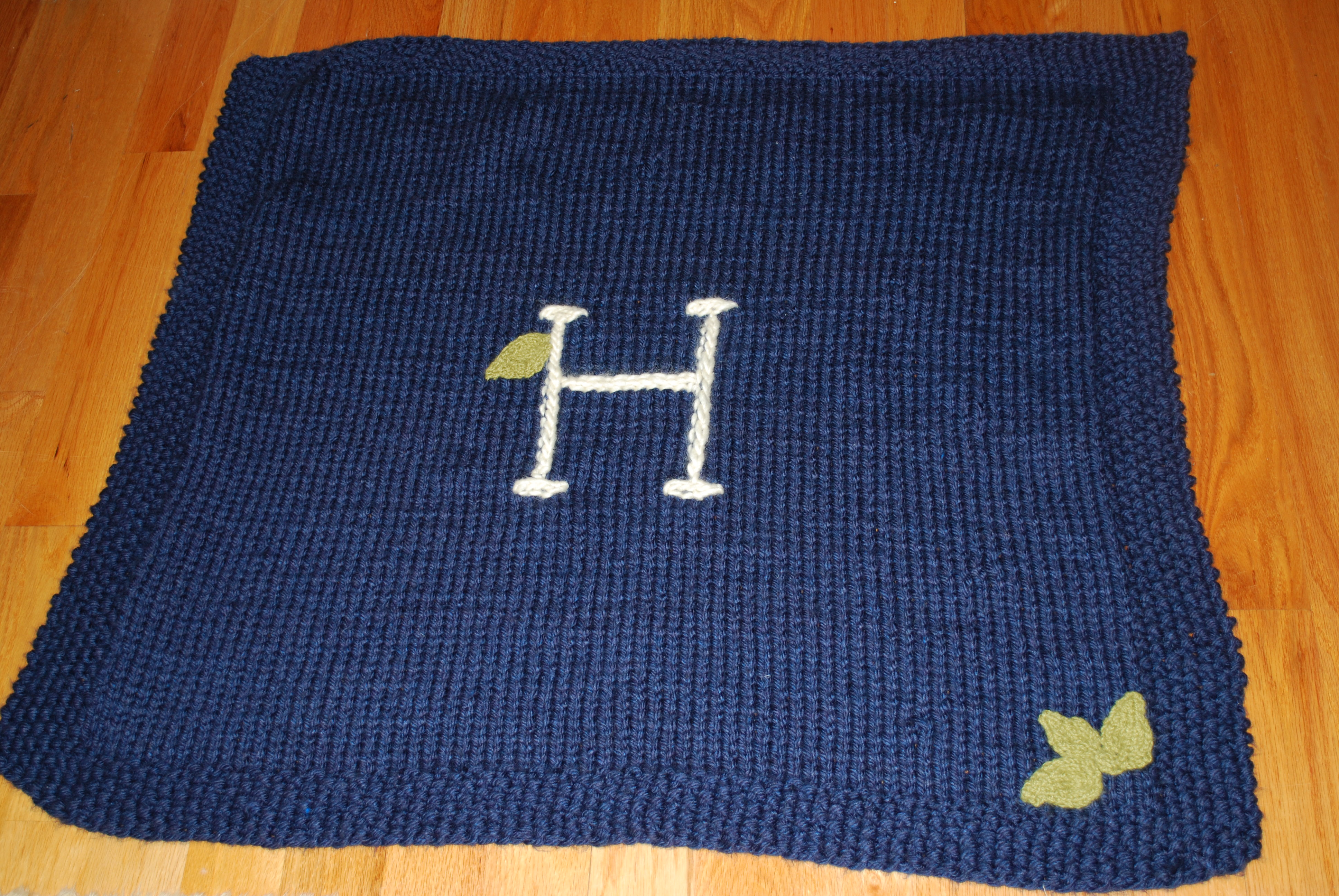 Hand-Knit Monogrammed Baby Blankets