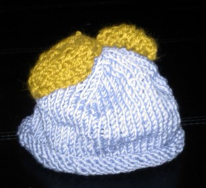 Baby's Grape Hat Front view
